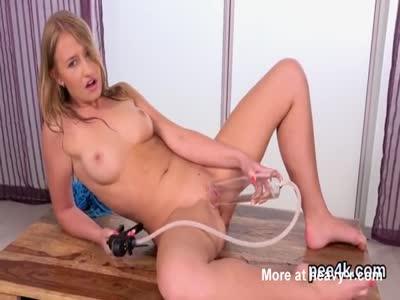 Piss Slut Pumping Pussy