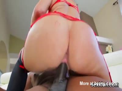 Pornstar hottie gets her anal poked with massive cock