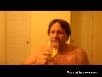 Demented Sissy pervert Tom Pearl Uses Piss For Mouthwash