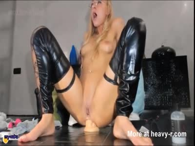 Fucking Ass With Big Dildo