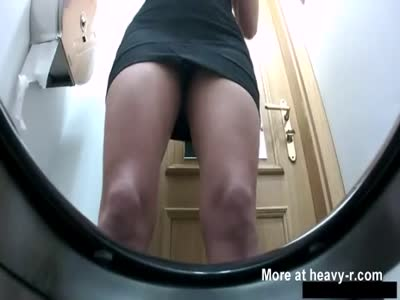Hidden Toilet Cam Captures Shitting Woman