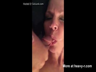 Cumming On Horny Moms Face