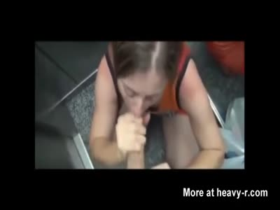 Sucking Cock In Elevator