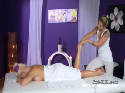 Masseuse Gets Licked