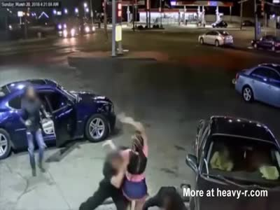 Psycho Bitch Opens Fire On People In A Car