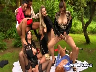 Group Of Euro Sluts Pissing And Fingering