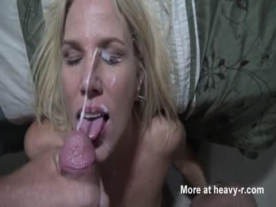 Wife receiving huge facial