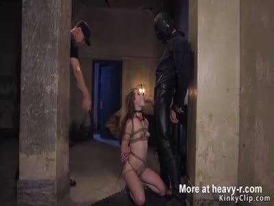 Tied fondled forced to suck