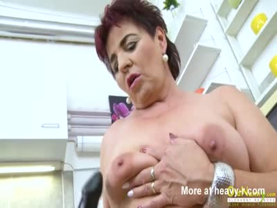 Hot Granny Playing With Boobs