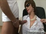 Mature Lady Interracial Facial