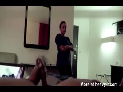 Hotel Maid Watches Black Dude Cum