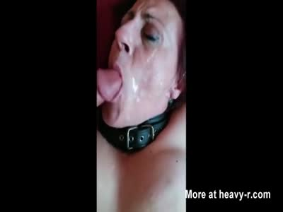 2 Guys Cum On Grandma's Face