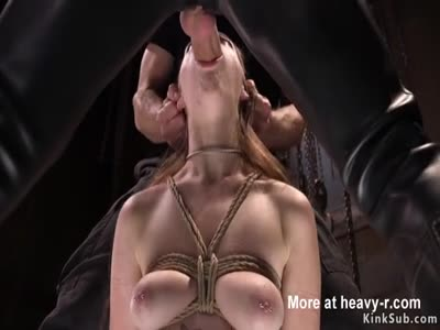 Roped Slut Sucking Dick Getting Teased