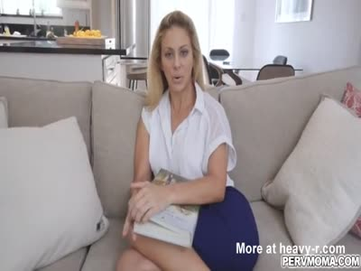 Busty stepmom spread her legs wide for stepsons cock