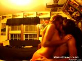 Young Teen Couple Making Out