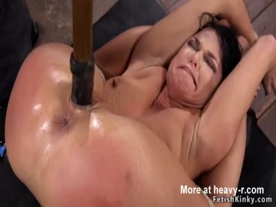 Toyed MILF With Dildo On A Stick