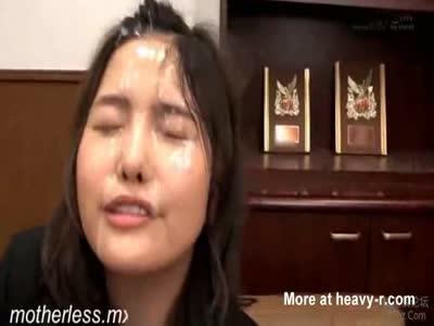 Facial for reading asian teen