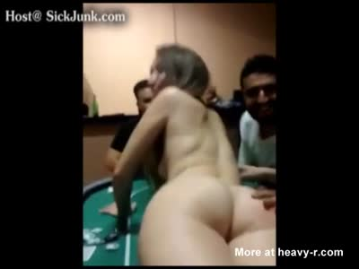 Dude Bets His Bitch In Poker Game