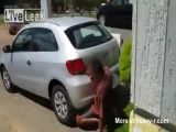 Man Fucking Car Exhaust