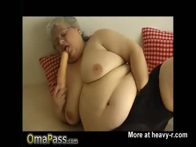 Plump Granny Masturbating