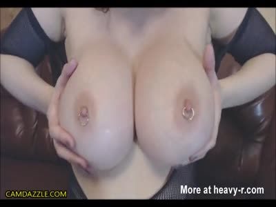 Busty Babe Squirts From Her Pierced Cunt