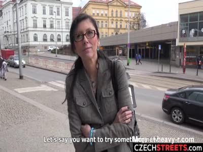 Secretary MILF Sucking Cock In Public