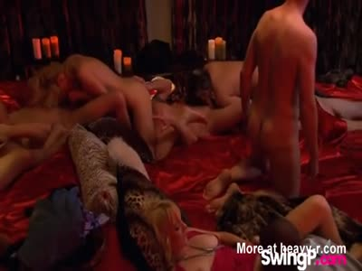 First Time Swingers Fuck At Orgy