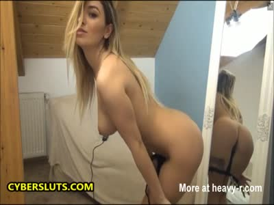 Blonde Stripping And Masturbating