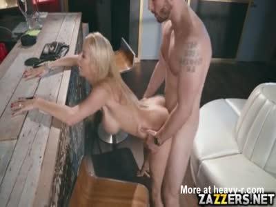 Cumshot On Big Fake Tits