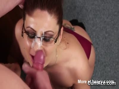 Horny Doll Gets Jizzed At The Office