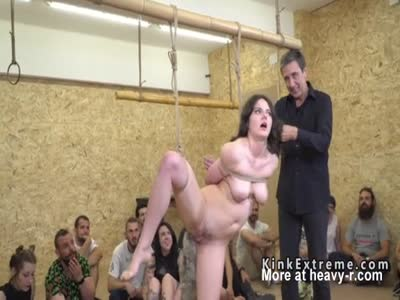 Butt Plugged Girl Disgraced In Public