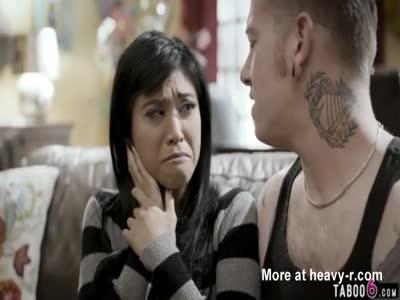 Asian teen hottie cheats on boyfriend with his bro