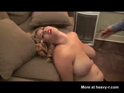A sexy blonde meets her end