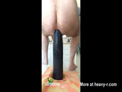 Big Bear Riding Huge Dildo