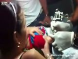 Toddler Gets A Tattoo