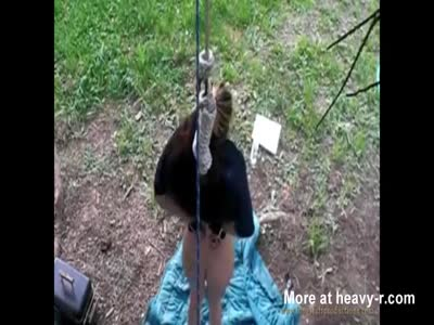 Naked Girl Hanged From Tree