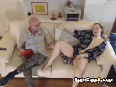 Chubby Babe Seducing Old Man