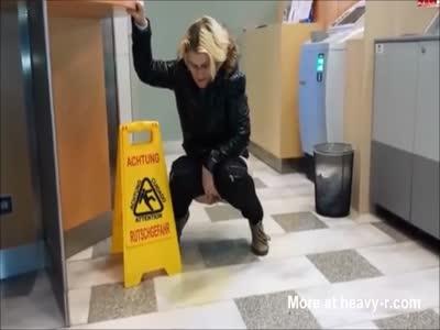 Mature pee in public