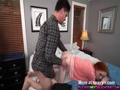 Petite redhead Dolly Little  takes a  big hard dick