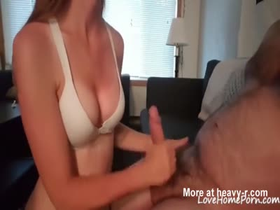 Teen Gives Handjob To Older Man