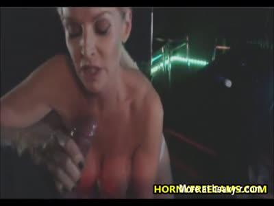 Busty Blonde Pornstar Milf Fucked In Disco Club
