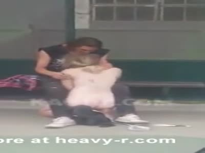 Public Blowjob At Bus Stop
