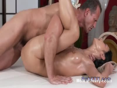 Masseur Banging Oiled Beauty