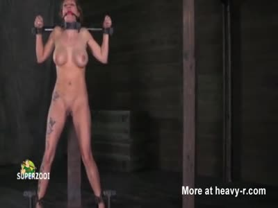 Naked Gagged bitch Whipped Till She Bleeds