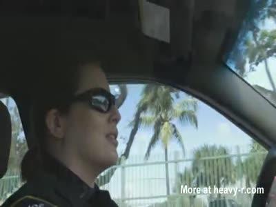 Black boner disappears in blonde cop
