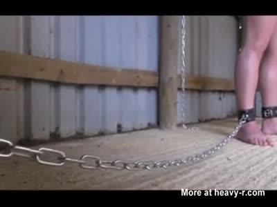 Bound Slave gets milked