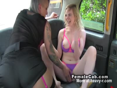 Blonde Rimming Female Taxt Driver