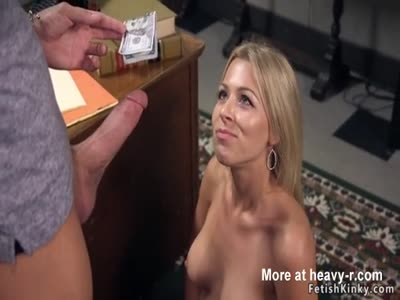 Blonde sexy banker anal fisted and banged