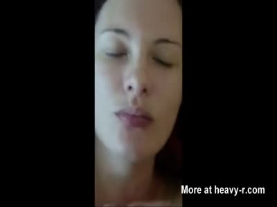 Teen Model Takes Messy Facial