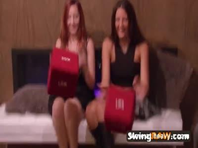 Laura gets her titties sucked by swinger